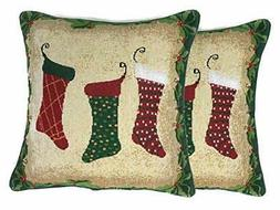 Tache Home Fashion Hang My Stockings Pillow Cover,