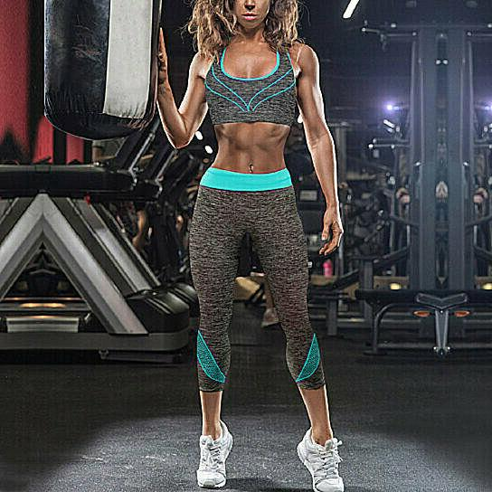 2-Piece: Gym Sports Bra Leggings Set