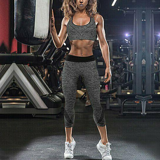 2-Piece: Workout Sports Leggings Set