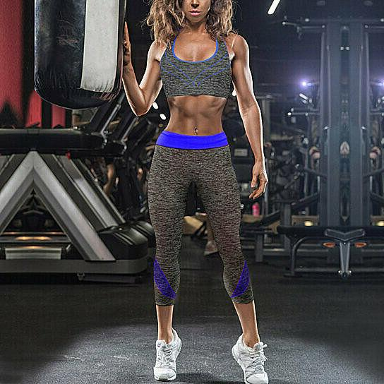 2-Piece: Gym Fitness Sports Bra Leggings Set
