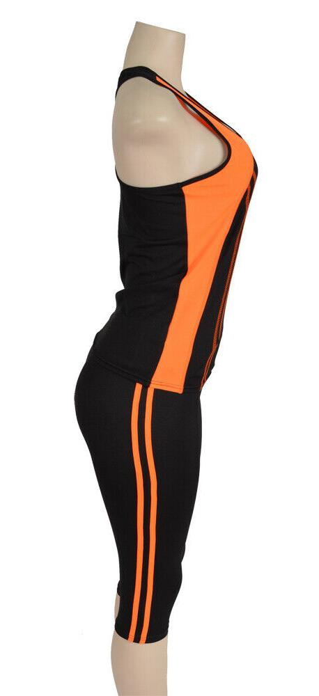 Docefit Orange Active Workout Tank Outfit AT1044