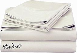 Best Rated { King Size } Bed Sheets 500- Thread- Count Solid