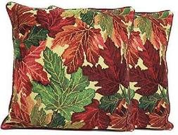 Tache Warm Tapestry Colorful Thanksgiving Leaves Fall Foliag